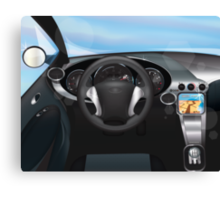 Sports Car Dashboard Canvas Print