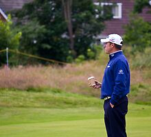 Lee Westwood at The Open 2012 by Paul Collin