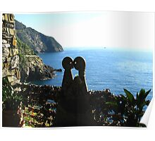 Love is in the Air - Cinque Terre, Italy Poster