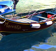 Mareska - Vernazza Harbour - Cinque Terre, Italy by Marilyn Harris