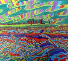 356 DUNSTANBURGH COLOUR STORM - DAVE EDWARDS - COLOURED PENCILS - 2012 by BLYTHART