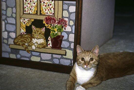 Cat Art Imitates Life by sally-w
