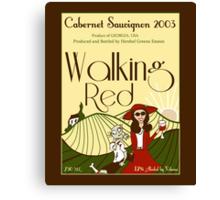 Walking Red: A Fine Wine Canvas Print