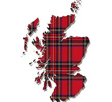 Tartan Map of Scotland iPhone Case by simpsonvisuals