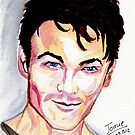 Morten Harket, watercolor by jos2507