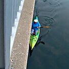 Kayak Along The Side of the Dam by Jane Neill-Hancock