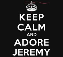 Keep Calm and Adore Jeremy From Vampire Diaries DS by rachaelroyalty