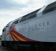 New Mexico Railrunner Locomotive, Santa Fe to Albuquerque Commuter Train, Santa Fe, New Mexico by lenspiro