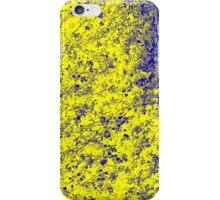 Flower - Yellow/Blue iPhone Case/Skin