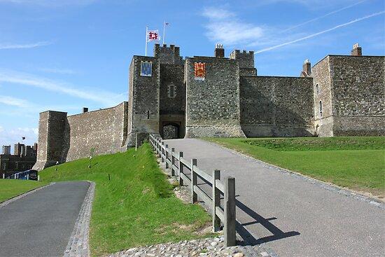 Dover Castle in Kent county by kirilart