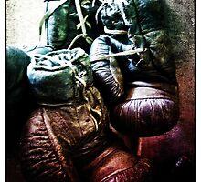 Old Boxing Gloves by David J Baster