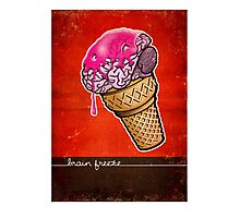 Brain Freeze! Photographic Print