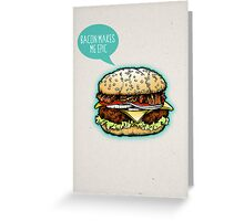 Epic Burger! Greeting Card