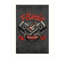 T-Birds' Speed Shop Art Print