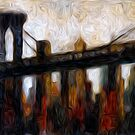 Brooklyn Bridge Oil Painting by Fred Seghetti