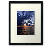 Big Water at Sundown - Lake Michigan Framed Print