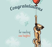 Border Terrier Congratulations Greeting Card by offleashart