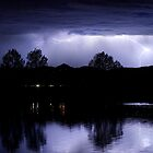 Lightning Over Coot Lake by Bo Insogna