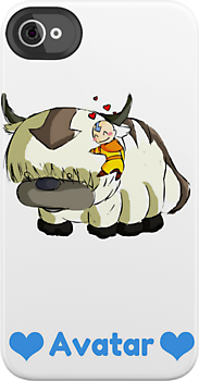 Aang and Appa by chrissy42