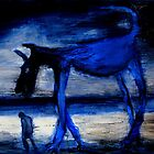 walking with the old blue dog by glennbrady
