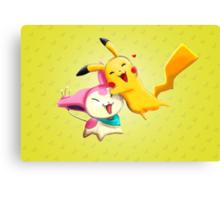 Pokemon hugs Canvas Print