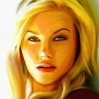 Elisha Cuthbert - Oil Painting by minored