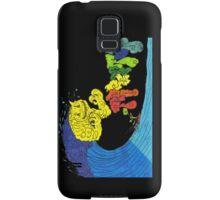 Percentum surfer - black Samsung Galaxy Case/Skin