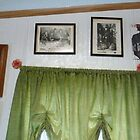 My other window, 2 signed Dio pics,1 signed Iron Maiden pic.. by Stacey Lazarus