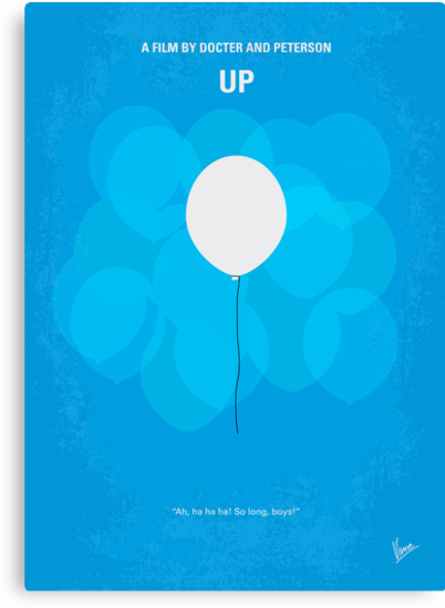 No134 My UP minimal movie poster by Chungkong