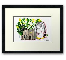 Traveler from UK Framed Print