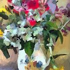 Summer Bouquet in a Hyalyn Pitcher by suzannem73