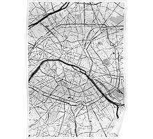 Paris OpenStreetMap Poster Poster