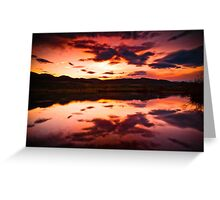 A Foothills Sunset Greeting Card