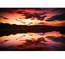 A Foothills Sunset Photographic Print