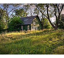 Old Green Farm Shed Photographic Print