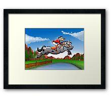 Olympic Equestrian Jumping Dog Framed Print