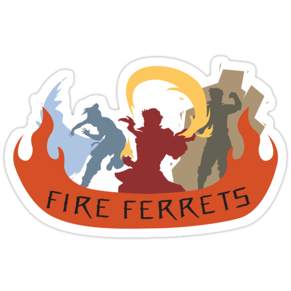 Fire Ferrets Trio - English by shwabadi