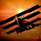 The Bloody Red Baron&#x27;s Fokker at Sunset by Chris Lord