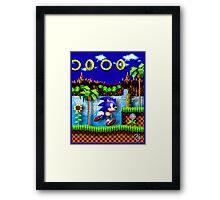 Sonic Hedgehog, Gotta Go Fast! Framed Print