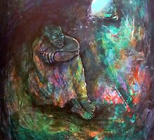 Elijah in the cave by annamora