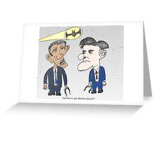 Caricature de Obama et Romney sous le Batsignale Greeting Card
