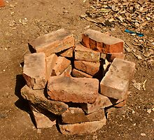 Pile of bricks by ashishagarwal74