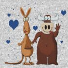 Kangaroo &amp; Bull love by Dulcina