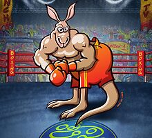 Olympic Boxing Kangaroo by Zoo-co