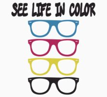 See live in color - CMYK Glasses by WAMTEES