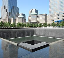 North Tower memorial pool by lilyisabelle