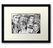 Doctor Who the sound of drums Framed Print