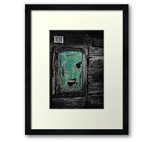 Curtain at the Window Framed Print