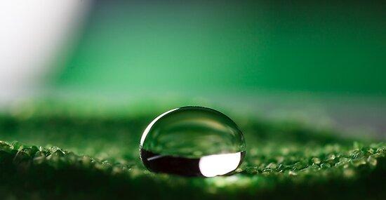 Water Drop on Hydrophobic Sand by Michael G Devereux