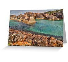 Elephants, Rocks and Lichen. William Bay NP. WA. Greeting Card